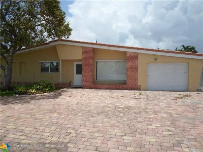 Oakland Park Single Family Home For Sale: 3345 NE 20th Ave