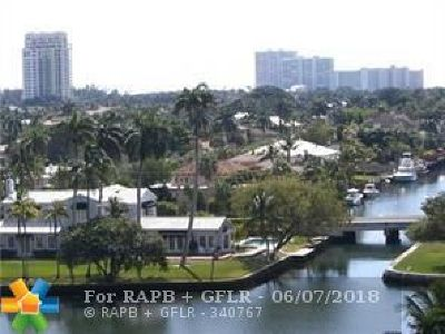 Fort Lauderdale Condo/Townhouse For Sale: 340 Sunset Dr #801