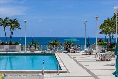 Pompano Beach Condo/Townhouse For Sale: 1620 S Ocean Blvd #8H
