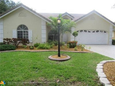 Coral Springs Single Family Home For Sale: 12716 NW 19th Mnr
