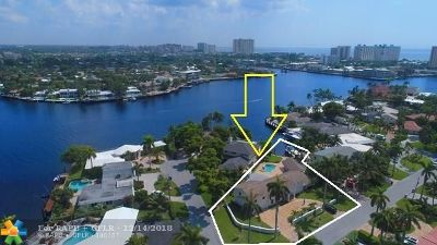 Pompano Beach FL Single Family Home For Sale: $2,000,000