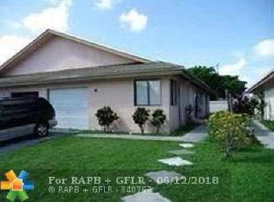North Lauderdale Single Family Home For Sale: 6541 Harbour Rd