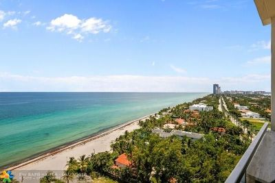 Hallandale Condo/Townhouse For Sale: 3180 S Ocean Dr #1616