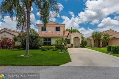 Coconut Creek Single Family Home For Sale: 3730 Coco Lake Dr