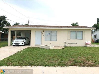 Lauderhill Single Family Home For Sale: 3191 NW 5th St