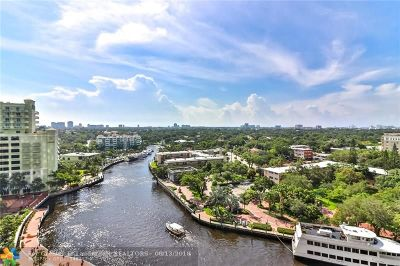 Fort Lauderdale Condo/Townhouse For Sale: 411 N New River Dr #1202