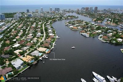 Fort Lauderdale Single Family Home For Sale: 765 Middle River Dr
