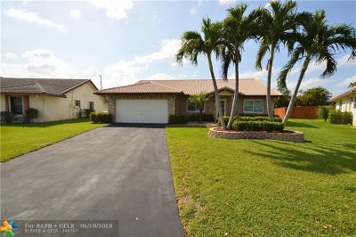 Coral Springs Single Family Home For Sale: 736 NW 106th Ave