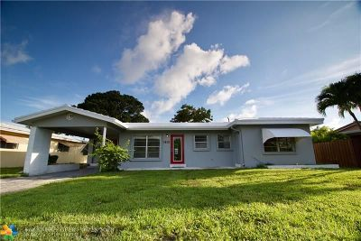 Wilton Manors Single Family Home For Sale: 1813 NE 27th St