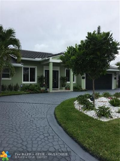 Oakland Park Single Family Home For Sale: 4011 NE 16th Ter