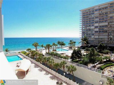 Fort Lauderdale Condo/Townhouse For Sale: 4250 Galt Ocean Dr #5H