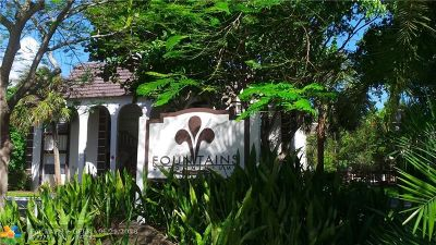 Tamarac Condo/Townhouse For Sale: 6181 NW 57th St #104