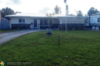Pompano Beach FL Single Family Home For Sale: $244,000