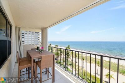 Lauderdale By The Sea Condo/Townhouse For Sale: 5000 N Ocean Blvd #712