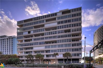 Fort Lauderdale Condo/Townhouse For Sale: 345 N Fort Lauderdale Beach Blvd #601
