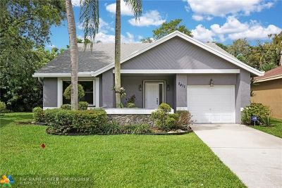 Coconut Creek Single Family Home For Sale: 2411 N Ginger Av