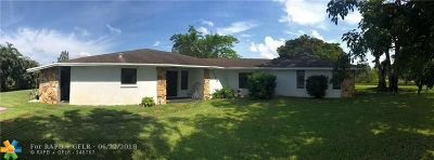 Southwest Ranches Single Family Home For Sale: 5195 SW 163rd Ave
