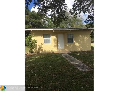 Fort Lauderdale Single Family Home For Sale: 2841 NW 14th St