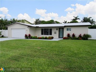 Coral Ridge Isles Single Family Home For Sale: 5821 NE 14th Rd