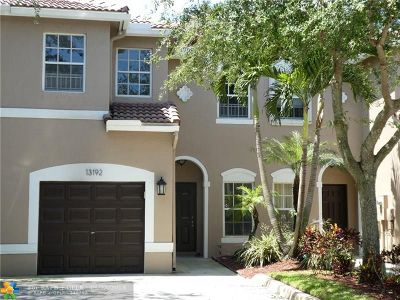 Plantation Condo/Townhouse For Sale: 13192 NW 7th Pl #.