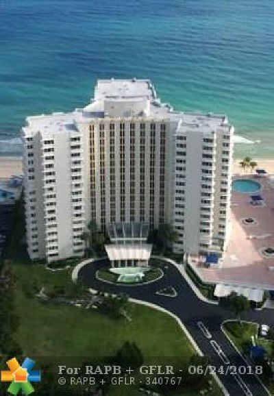 Lauderdale By The Sea Condo/Townhouse For Sale: 3900 N Ocean Dr #12B
