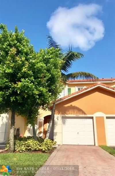 Tamarac Condo/Townhouse Backup Contract-Call LA: 8215 Santa Monica Ter #8215