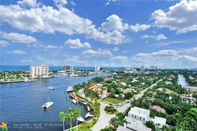 Fort Lauderdale Condo/Townhouse For Sale: 2500 E Las Olas Blvd #1905