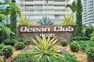Fort Lauderdale Condo/Townhouse For Sale: 4020 Galt Ocean Dr #605