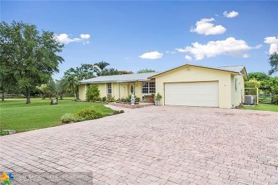 Southwest Ranches Single Family Home For Sale: 5341 SW 188th Ave