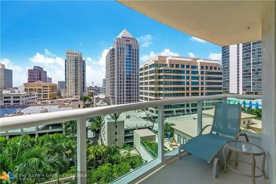 Fort Lauderdale Condo/Townhouse For Sale: 347 N New River Dr #1209