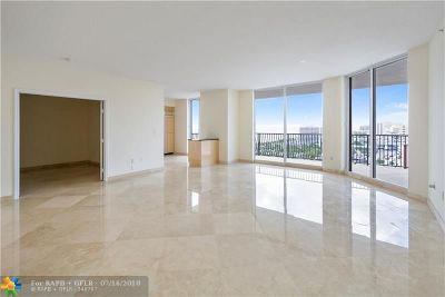 Fort Lauderdale Condo/Townhouse For Sale: 100 S Birch Rd #1504E