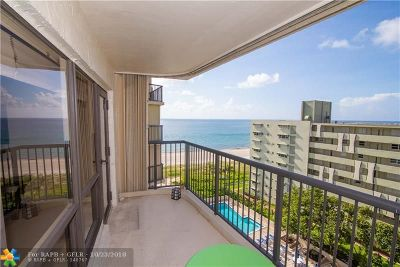 Lauderdale By The Sea Condo/Townhouse For Sale: 1800 S Ocean Blvd #904