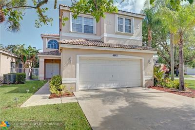 Coconut Creek Single Family Home For Sale: 4001 NW 62nd Ct