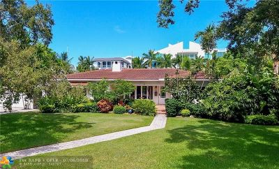 Fort Lauderdale, Lauderdale By The Sea, Lighthouse Point, Oakland Park, Pompano Beach Single Family Home For Sale: 300 N Gordon Rd