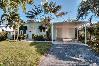 Oakland Park Single Family Home For Sale: 381 NW 49th St