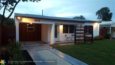 Fort Lauderdale Single Family Home For Sale: 1232 NE 13th