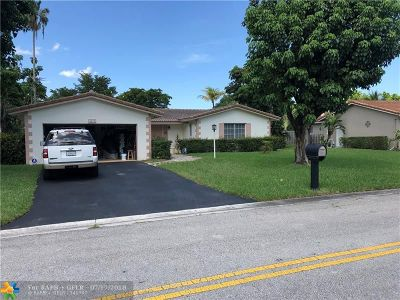 Coral Springs Single Family Home For Sale: 8495 NW 29th Ct