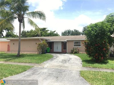 Sunrise Single Family Home For Sale: 11781 NW 33rd St