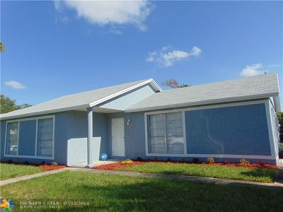 North Lauderdale Single Family Home For Sale: 7319 SW 8th Ct