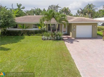Oakland Park Single Family Home For Sale: 1710 NE 40th Ct