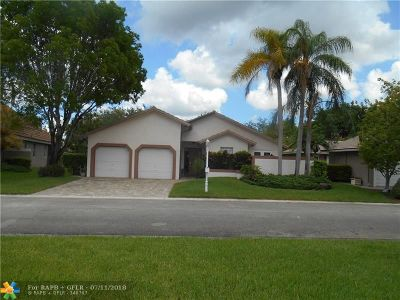 Coral Springs Single Family Home Backup Contract-Call LA: 1666 NW 106th Ter