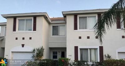 Pompano Beach Condo/Townhouse For Sale: 778 NW 42nd Pl #778