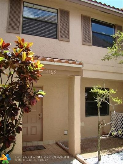 Coral Springs Condo/Townhouse Backup Contract-Call LA: 3189 NW 85th #1