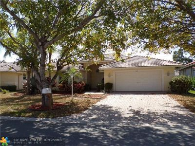 Coral Springs Single Family Home For Sale: 4842 NW 58th Ave