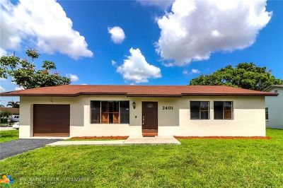 Sunrise Single Family Home For Sale: 2401 NW 110th Ter
