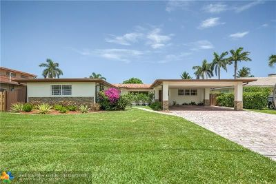 Fort Lauderdale, Lauderdale By The Sea, Lighthouse Point, Oakland Park, Pompano Beach Single Family Home For Sale: 1800 SE 25th Ave