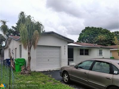 Sunrise Single Family Home For Sale: 5935 NW 16th St