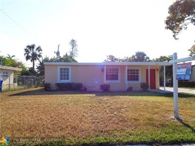 Fort Lauderdale Single Family Home For Sale: 1741 NW 24th Ter