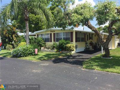 Coconut Creek FL Single Family Home For Sale: $60,000