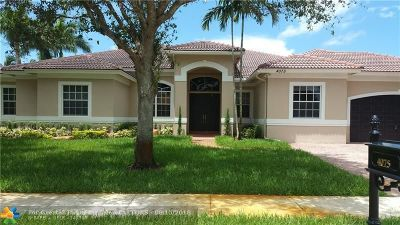 Davie Single Family Home For Sale: 4075 SW 140th Ave